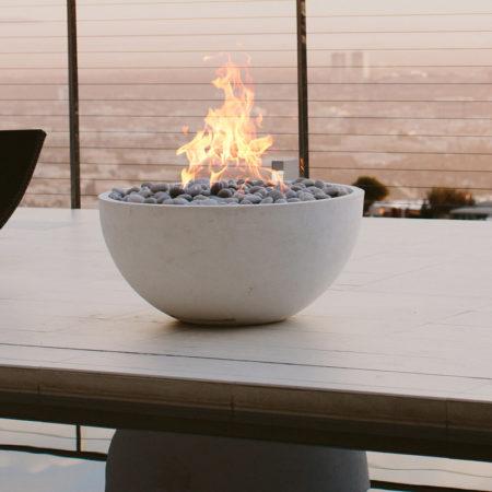 dekko concrete serenade outdoor fireplace table