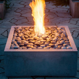 outdoor fireplace table