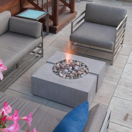 bravo outdoor fireplace table