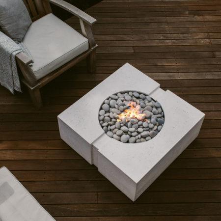 dekko concrete bravo outdoor gas fireplace