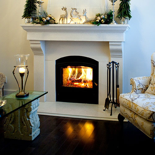 Zero Clearance Wood Fireplace. Opel Fireplace.