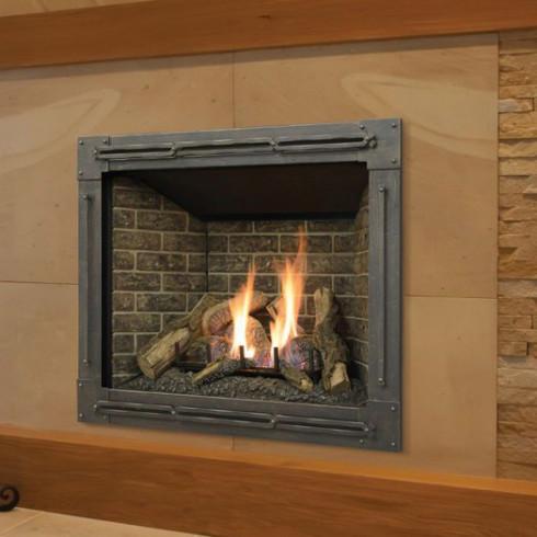 Bayport Log Fireplace