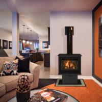 birchwood gas fireplace in living room