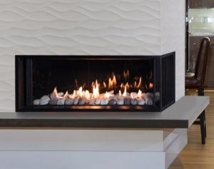 lx2 sleek looking gas fireplace